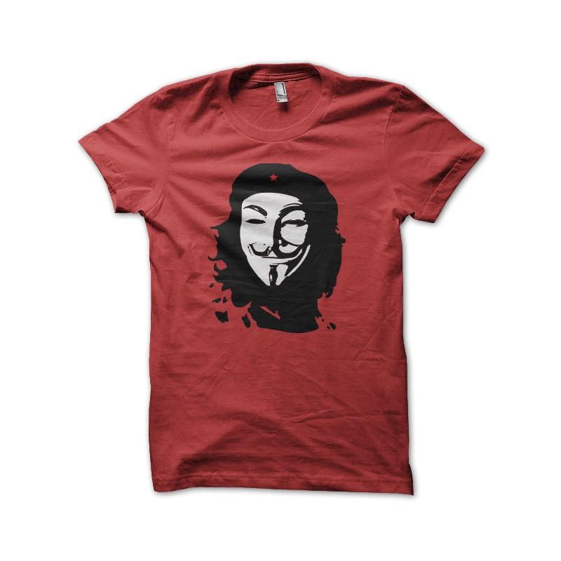 Shirt Anonymous Che Guevara rouge pour homme et femme ... 4978d618ab71