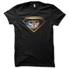 Shirt Super Astro Cat noir pour homme et femme
