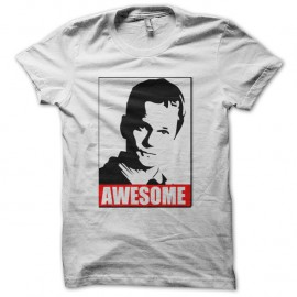 Shirt Awesome Barney Stinson blanc pour homme et femme