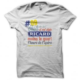 09 Shirt - Ricard moins le quart blanc pour homme et femme