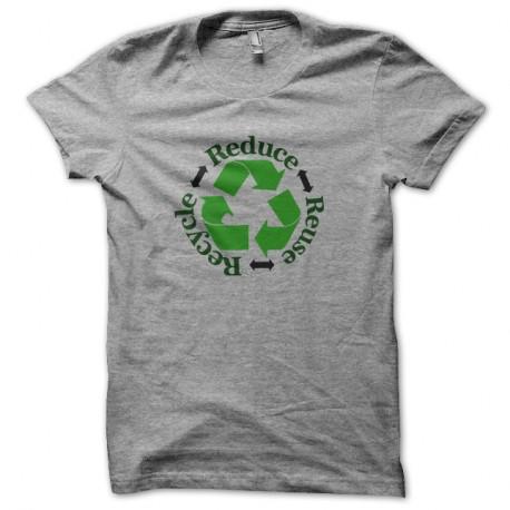 Shirt recyclage écolo gris pour homme et femme