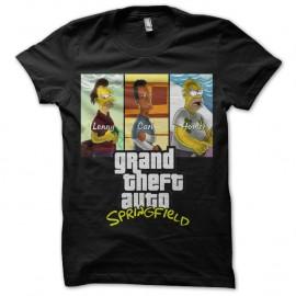 Shirt GTA Springfield - Noir pour homme et femme