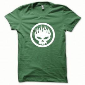 Shirt Offspring blanc/vert bouteille pour homme et femme