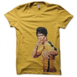 Shirt bruce lee en jaune pour homme et femme