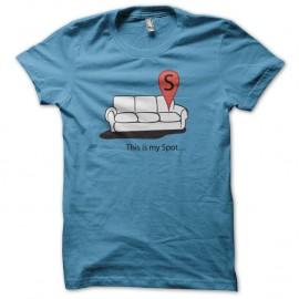 Shirt This is my spot bleu turquoise pour homme et femme