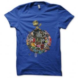 Shirt big little planet bleu pour homme et femme