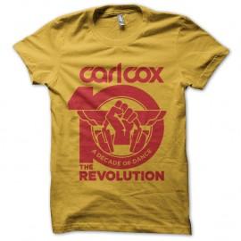 Shirt carl cox revolution jaune pour homme et femme