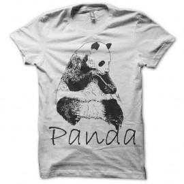Shirt panda trame blanc pour homme et femme