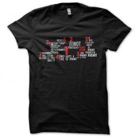 Shirt seven fight club noir pour homme et femme