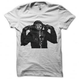 Shirt singe et son micro en blanc pour homme et femme