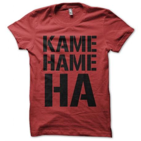 Shirt kame hame ha rouge pour homme et femme