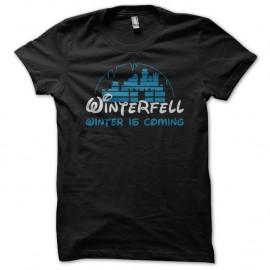 Shirt Game of Thrones Winterfell parodie Disney noir pour homme et femme