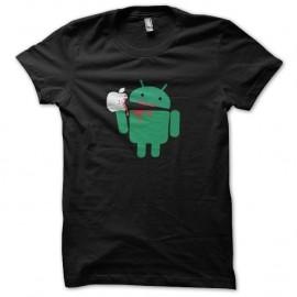 Shirt android bouffe apple noir pour homme et femme