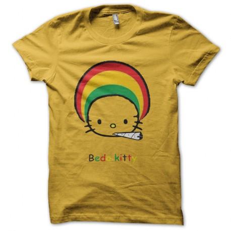 T Shirt Hello Kitty Parodie Bedo Kitty En Jaune