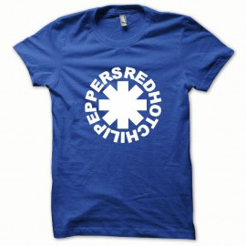 Shirt Red Hot Chili Peppers blanc/bleu royal pour homme et femme