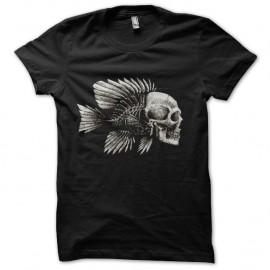 Shirt poisson squelette noir pour homme et femme
