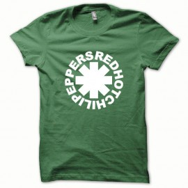 Shirt Red Hot Chili Peppers blanc/vert bouteille pour homme et femme