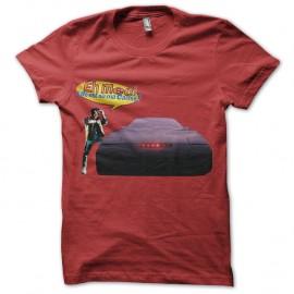 Shirt retour vers le futur parodie rouge pour homme et femme