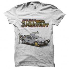 Shirt Delorean Stay in the present blanc pour homme et femme