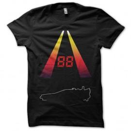 Shirt 88 miles circuit delorean noir pour homme et femme