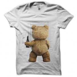 Shirt ted l'ours terrible blanc pour homme et femme