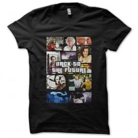 Shirt Retour vers le futur parodie GTA noir pour homme et femme