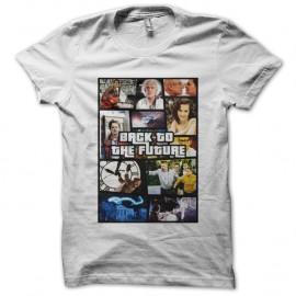 Shirt Retour vers le futur parodie GTA blanc pour homme et femme