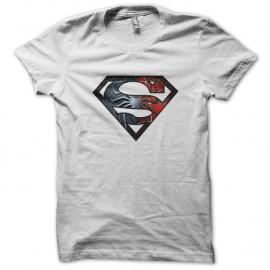 Shirt Super Spiderman blanc pour homme et femme
