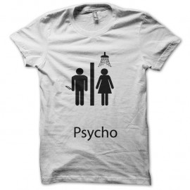 Shirt psycho blanc pour homme et femme