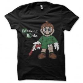Shirt Breaking Bricks noir pour homme et femme