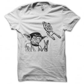 Shirt Yoda-Spock blanc pour homme et femme