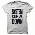 Shirt System of a Down noir/blanc pour homme et femme