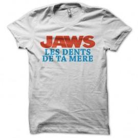 Shirt JAWN les dents de ta mère blanc pour homme et femme