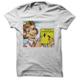 Shirt guide du bon époux blanc pour homme et femme