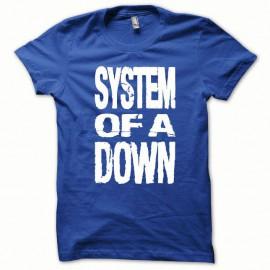 Shirt System of a Down blanc/bleu royal pour homme et femme