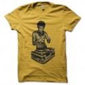 Shirt bruce lee en mode dj jaune pour homme et femme