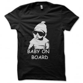 Shirt bebe carlos a bord hangover blanc sur noir pour homme et femme