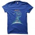 Shirt skateur astronaute bleu royal pour homme et femme
