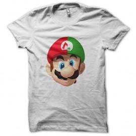 Shirt logo mario luigi façon daft punk blanc pour homme et femme