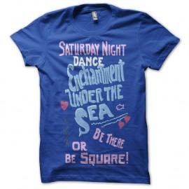 Shirt Féerie dansante des sirenes bleu pour homme et femme