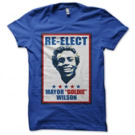 Shirt Reelect Goldie Wilson Affiche bleu pour homme et femme