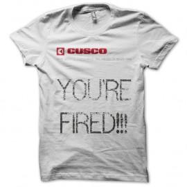 Shirt You're Fired Retour vers le futur 2 blanc pour homme et femme