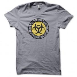Shirt Zombie Response Team gris pour homme et femme