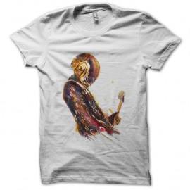 Shirt daft punk artistique en blanc pour homme et femme