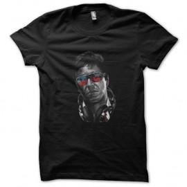 Shirt dj tony montana en noir pour homme et femme