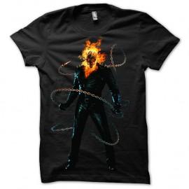 Shirt Ghost Rider chaines noir pour homme et femme