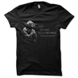 Shirt try yoda noir pour homme et femme