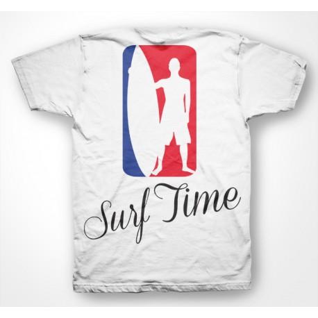 Shirt Surf Time blanc pour homme et femme
