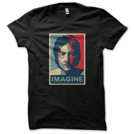 Shirt imagine john lennon noir pour homme et femme