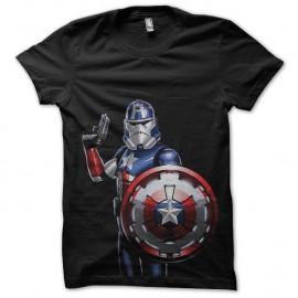 Shirt captain america stormtrooper noir pour homme et femme